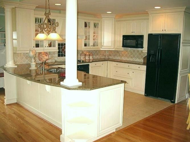 beautiful kitchen islands 20 beautiful kitchen island designs with columns 1556