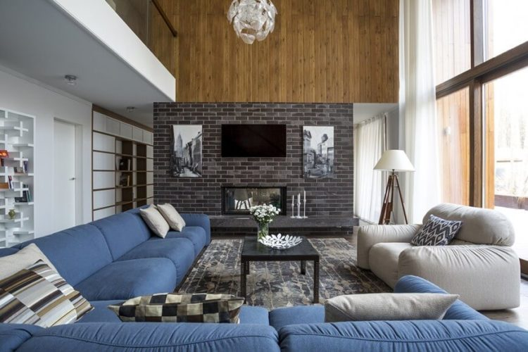 For More Ideas, Here Are 20 Living Room Designs With Brick Walls.