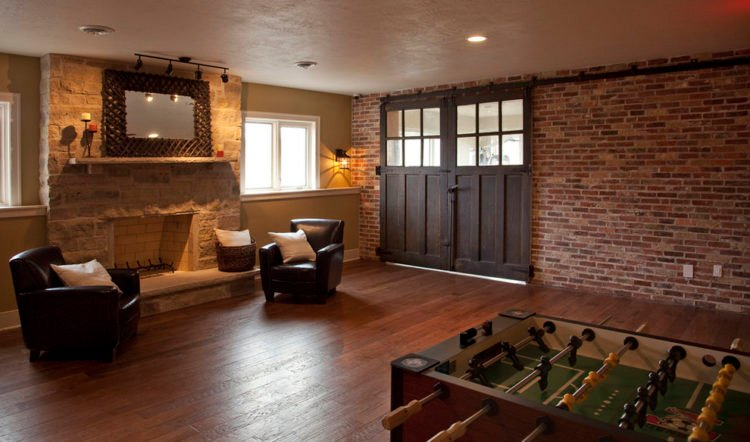 exciting brick wall inside living room | 20 Living Room Designs with Brick Walls