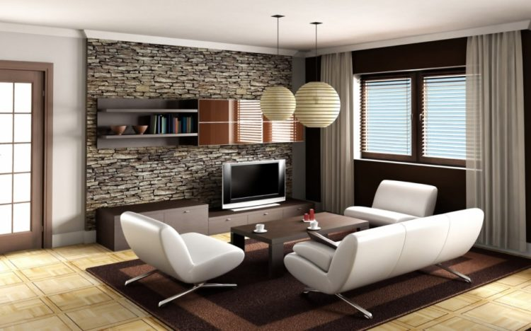 20 Living Room Designs With Brick Walls