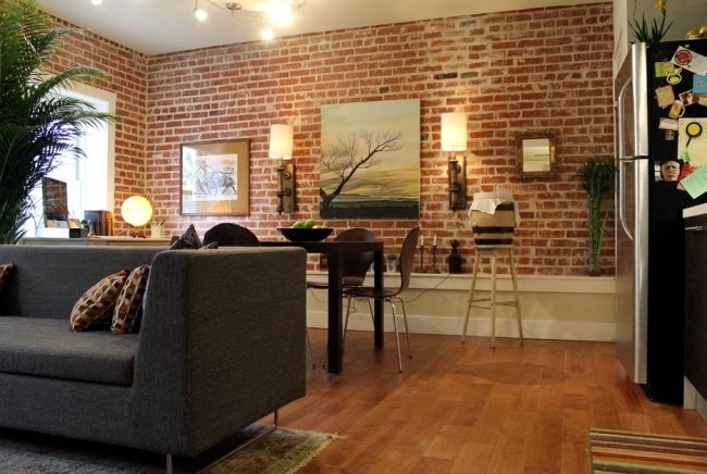 living room brick wall 20 living room designs with brick walls 15993