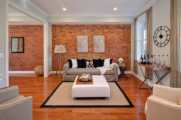 Brick Walls Aren T Something You Traditionally See Just On The Outside Of A Building But They Are Becoming Common Place To As An Interior Design