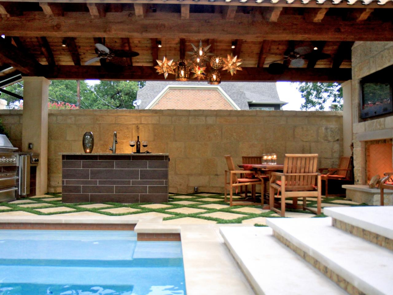pool and outdoor kitchen designs 20 gorgeous poolside outdoor kitchen designs 7523