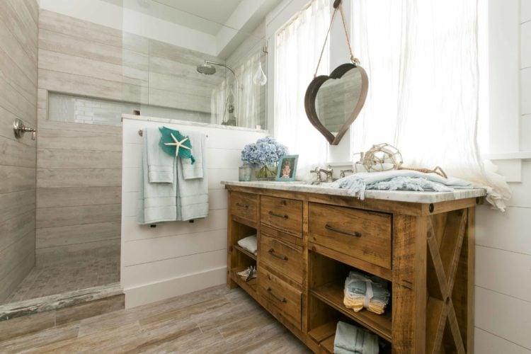 48 Beautiful Beach Style Bathroom Design Ideas Adorable Beach Style Bathroom