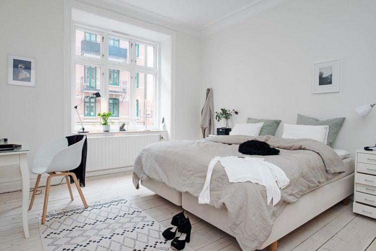 20 Examples Of Scandinavian Style Bedroom Design: industrial scandinavian bedroom