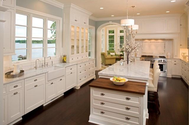 Farmhouse Kitchen White Cabinets white farmhouse kitchen - creditrestore