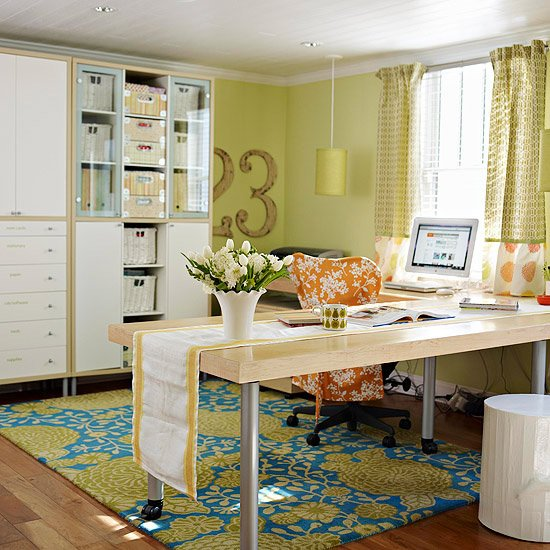 20 Beautiful Home Offices With Area Rugs