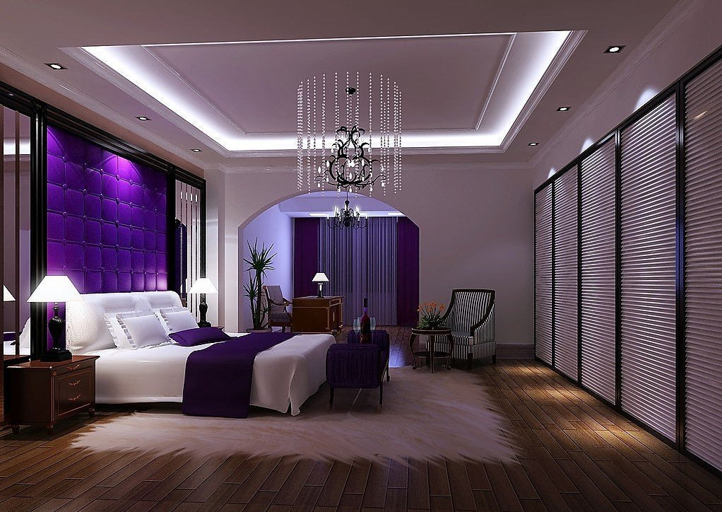 black and purple wallpaper for bedrooms 20 beautiful purple bedroom ideas 20364