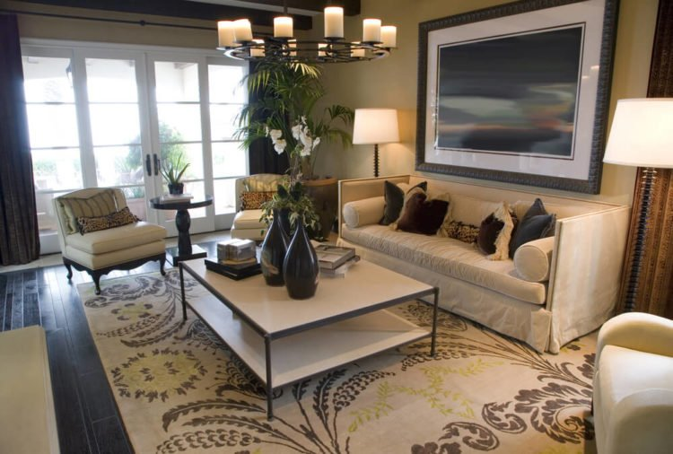 20 beautiful brown living room ideas - Small area rugs for living room ...