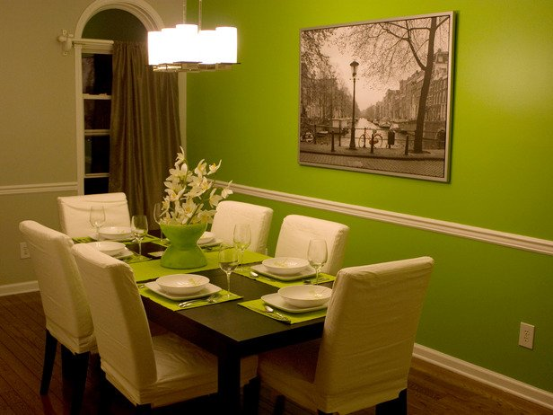 ... Green Dining Room Ideas. Image Via Www.houzz.com