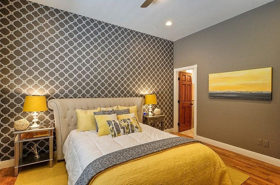 remarkable light yellow gray bedroom ideas | 20 Beautiful Yellow Bedroom Ideas