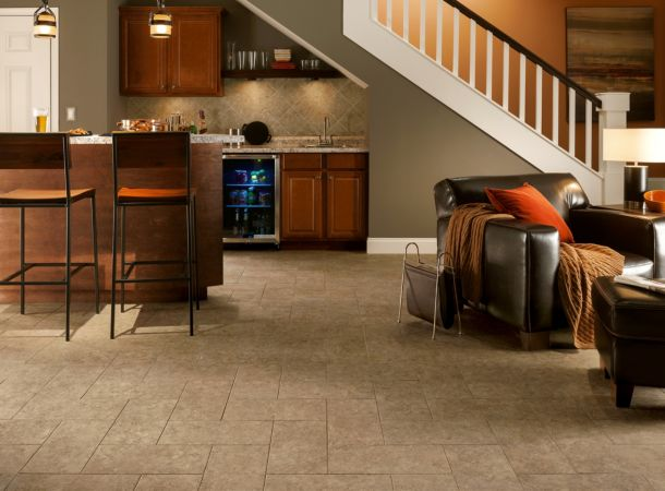 Image via www armstrong com 20 Gorgeous Basement Flooring Ideas