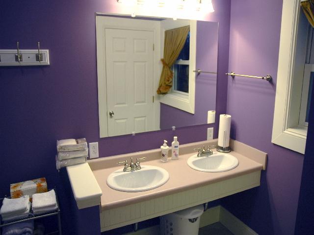 Purple Yellow Bathroom