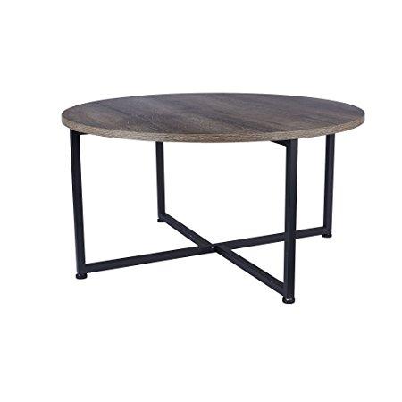 Household Essentials Ash Wood Round Modular Coffee Table U2013 $60.64