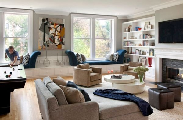 Windowseats 20 gorgeous living rooms featuring window seats