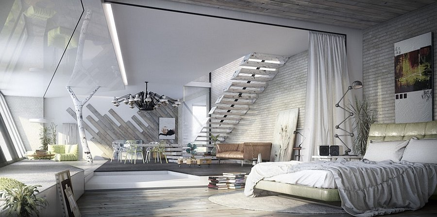 20 gorgeous industrial design bedroom ideas - Large Bedroom Designs