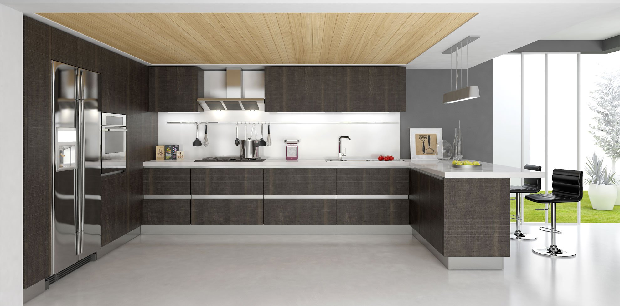 Contemporary Wood Kitchen Design Ideas