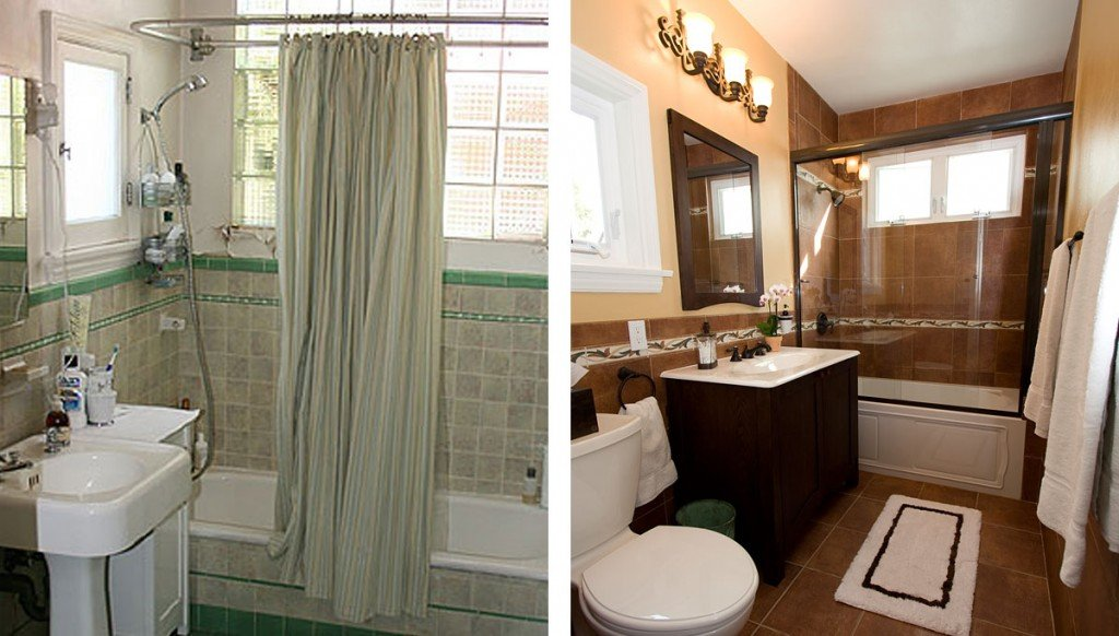 20 before and after bathroom remodels that are stunning - Pictures of remodeled small bathrooms ...