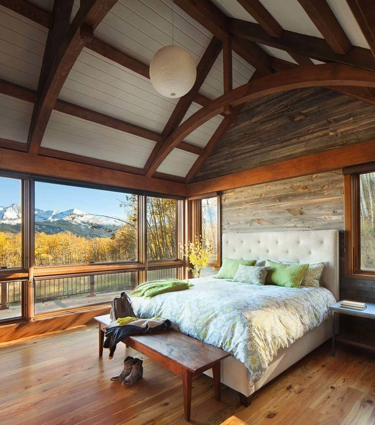 Beautiful Bedrooms With Beautiful Ceilings Rustic Bedroom: 20 Homes With Amazing Views Of The Rocky Mountains