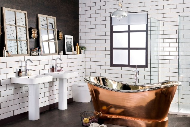 image via wwwdyhomelifecom - Industrial Bathroom