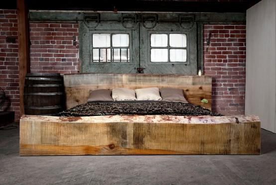 Image via .decoholic.com & 20 Gorgeous Industrial Design Bedroom Ideas