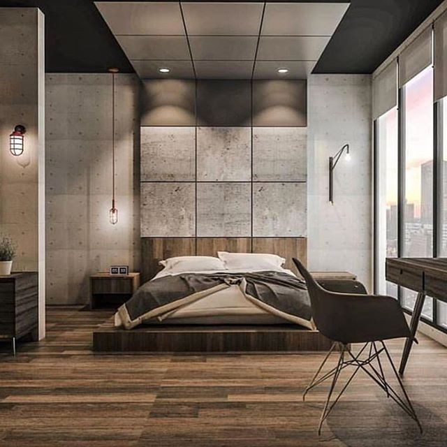 20 gorgeous industrial design bedroom ideas. Black Bedroom Furniture Sets. Home Design Ideas