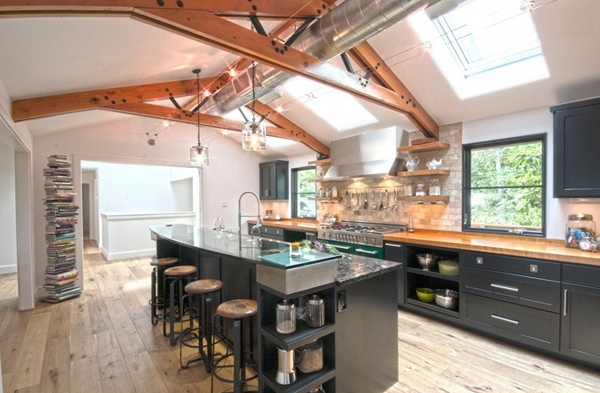 20 Practical and Pretty Industrial Design Kitchen Ideas