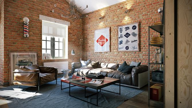 appealing industrial living room design | 20 Inspiring Industrial Design Living Room Ideas