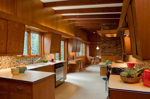 20 mid century modern design kitchen ideas - Mid century kitchen cabinets ...