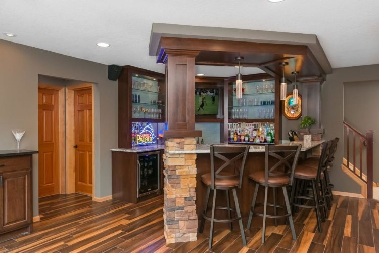 ... You May Want A Few Ideas To Help You Along, So Take A Look At The  Following 20 Finished Basements With Amazing Bar Setups To Get You Started.