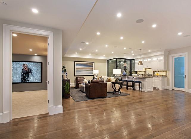 20 Incredible Finished Basements With Hardwood Flooring