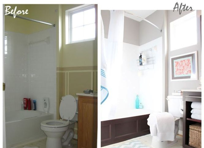 Astounding 20 Before And After Bathroom Remodels That Are Stunning Download Free Architecture Designs Pushbritishbridgeorg