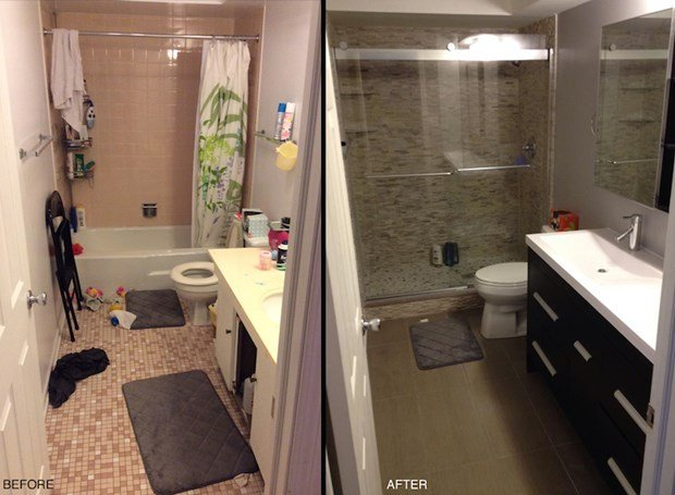 48 Before And After Bathroom Remodels That Are Stunning Impressive Small Remodeled Bathrooms Before And After Design