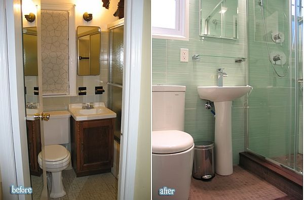 20 before and after bathroom remodels that are stunning - Pictures of small bathroom remodels ...