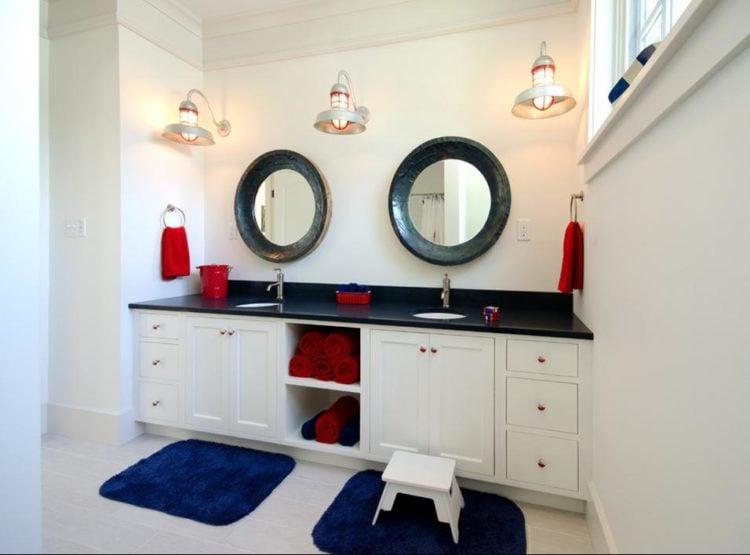 20 Elegant Nautical Bathroom Ideas, Nautical Bathroom Lights