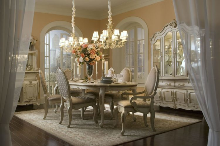 20 Romantic Style Dining Room Ideas