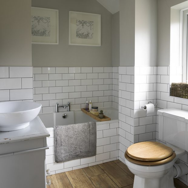 Small Cloakroom Toilet Panelling