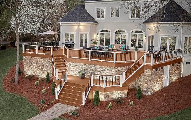 Composite deck ideas Backyard Image Via Wwwtrexcom Composite Decking Design From 7scuolediballo 20 Gorgeous Trex Composite Decking Ideas