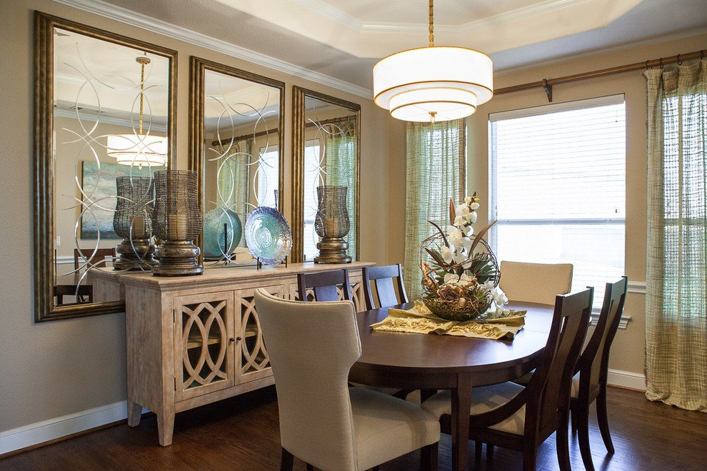 20 beautiful dining rooms incorporating mirrors - How to decorate a dining room ...