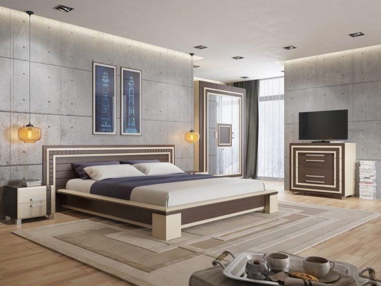 40 Beautiful Bedroom Designs Incorporating Concrete Delectable Bedroom Designing