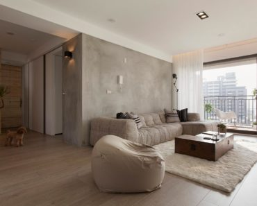 20 Beautiful Living Rooms Incorporating Concrete