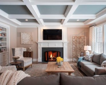 20 Living Room Designs With Painted Ceilings