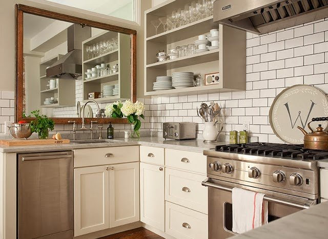 20 Beautiful Kitchens Incorporating Mirrors