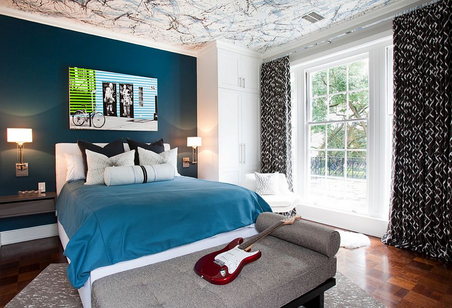 20 Awesome Bedroom Designs With Painted Ceilings