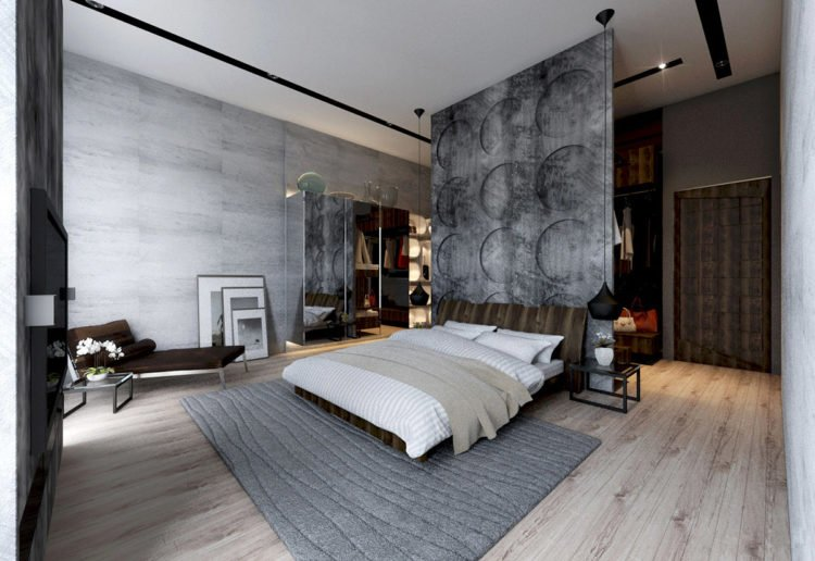 20 beautiful bedroom designs incorporating concrete - Beautiful Bedroom