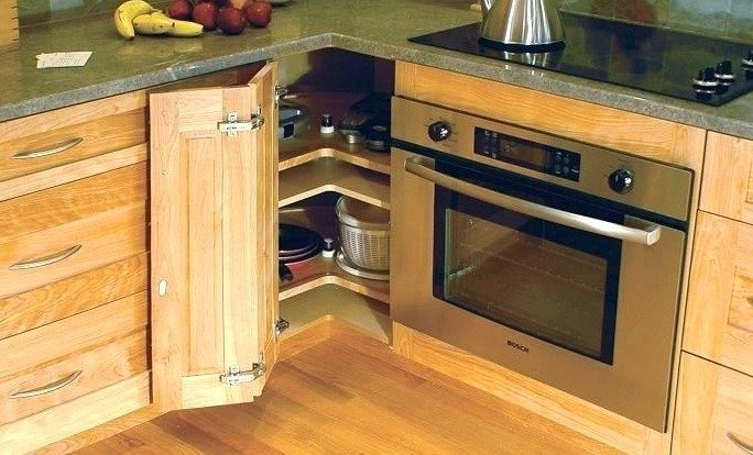 The Most Common Way That Utilizes A Kitchen Corner Is Lazy Susan These Pie Shaped Cabinets Can Be Placed Above Or Below Counter