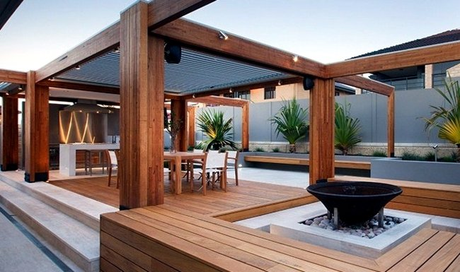 Ordinaire Here Are 20 Beautiful Wood Patio Ideas:
