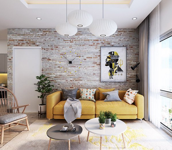 exciting brick wall inside living room | 10 Types of Drywall Alternatives for Your Walls