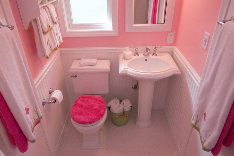 surprising pink bathroom design | 20 Beautiful Bathroom Designs with Pedestal Sinks