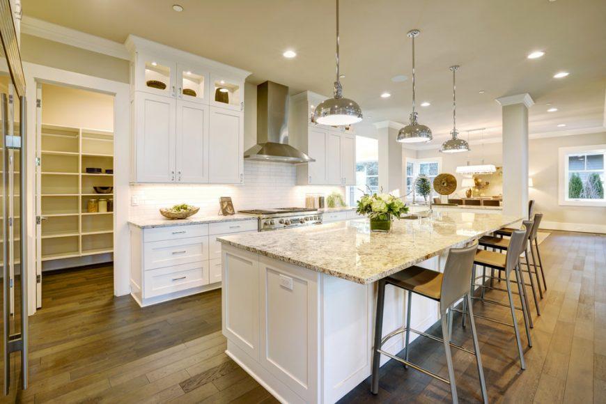 stunning kitchen island lighting pendant lights | 20 Gorgeous Kitchen Island Designs with Pendant Lights